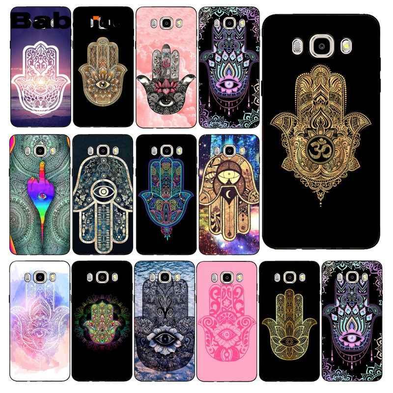 Babaite Hamsa ręka Fatima przypadku telefonu tylna pokrywa dla Samsung Galaxy J7 J6 J8 J4 J4 plus J7 DUO J7 neo J2 J5 Prime