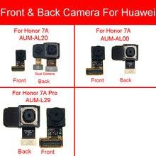 Módulo de cámara trasera y frontal para Huawei Honor 7A AUM AL20 AUM AL00 / Honor 7A Pro AUM L29 pequeño Cable flexible grande de la cámara principal