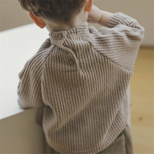 Children's Clothing 2020 Autumn And Winter Baby Boys And Girls Corduroy Bottoming Shirt T-shirt Baby Long Sleeve Tops Shirts