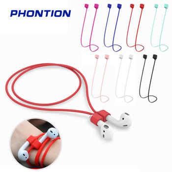 Anti-Lost Rope Soft Silicone Strap Earphone Neck Cable Magnetic String Cord Lanyard Headphone Accessories for Apple AirPods 1 2 for apple airpods 1 2 sports anti lost headphone cord high end magnetic anti lost headphone cord