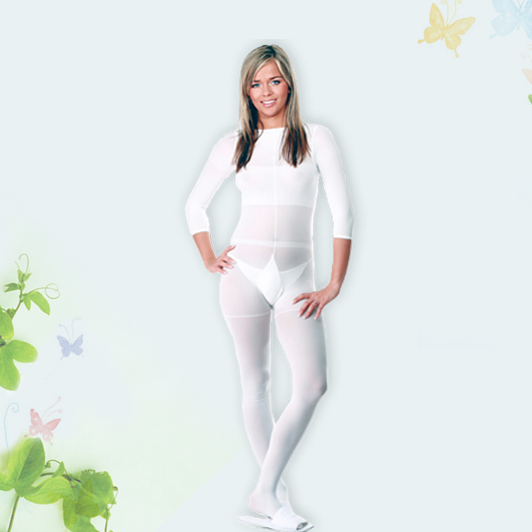 White/black LPG Body Roller Massage Costume Vacuum Slimming Suit For Velashape Therapy Machine