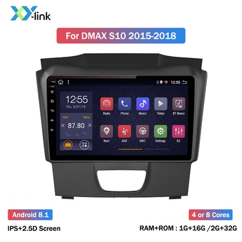 9 inch Android 8.1 for ISUZU DMAX D-Max 2015-2018 Car Radio GPS navigation multimedia Player Support Rear camera no 2 din dvd image