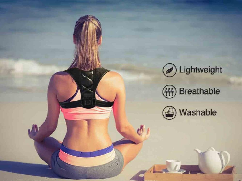 Hb27d77ef32094e13850e8695e288674fn - Brace Support Belt Adjustable Back Posture Corrector Clavicle Spine Back Shoulder Lumbar Posture Correction