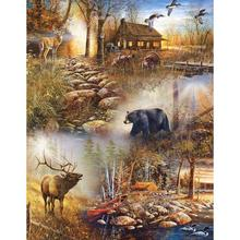 Diamond Painting DIY Round 5D Cross Stitch Deer And Bear Kits Art Hobby