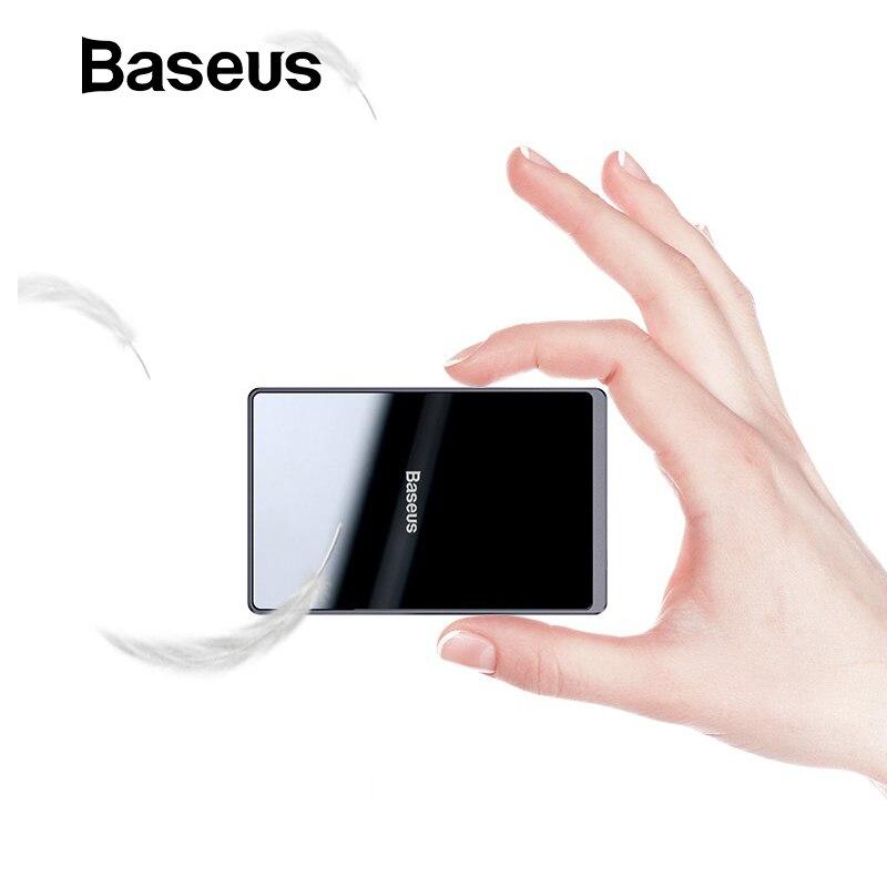 Chargeur sans fil Baseus 15W Qi chargeur sans fil Portable Ultra mince sans fil pour iPhone 11 Pro X XS XR 8 Samsung S10 S9 Xiao mi mi 9