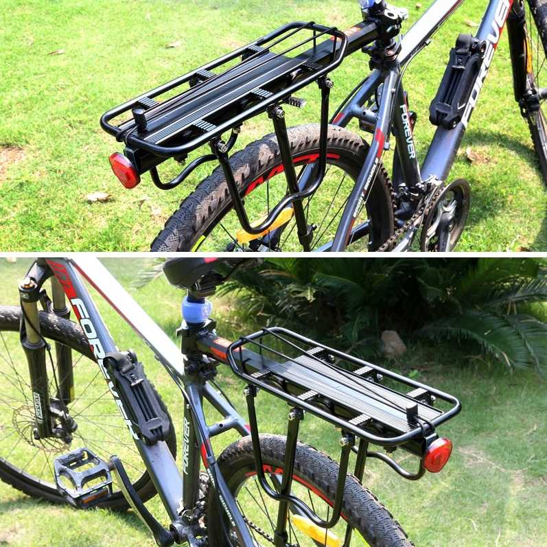 WEST vélo porte-vélo porte-bagages vélo sac ensemble support en aluminium + acier vélo Cargo supports 140 KG portant supports de vélo