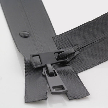 5# Waterproof Double Sliders Zippers Invisible Two-Way Open End Nylon Zippers For DIY Handmake Sewing Clothes Supplies