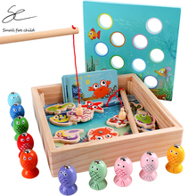 Wooden Toys Toy-Game Educational-Toys Fishing Outdoor Girl Kids Boys Children Funny Gifts