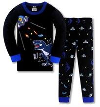 Пижама с динозавром для мальчиков детская одежда сна акулой