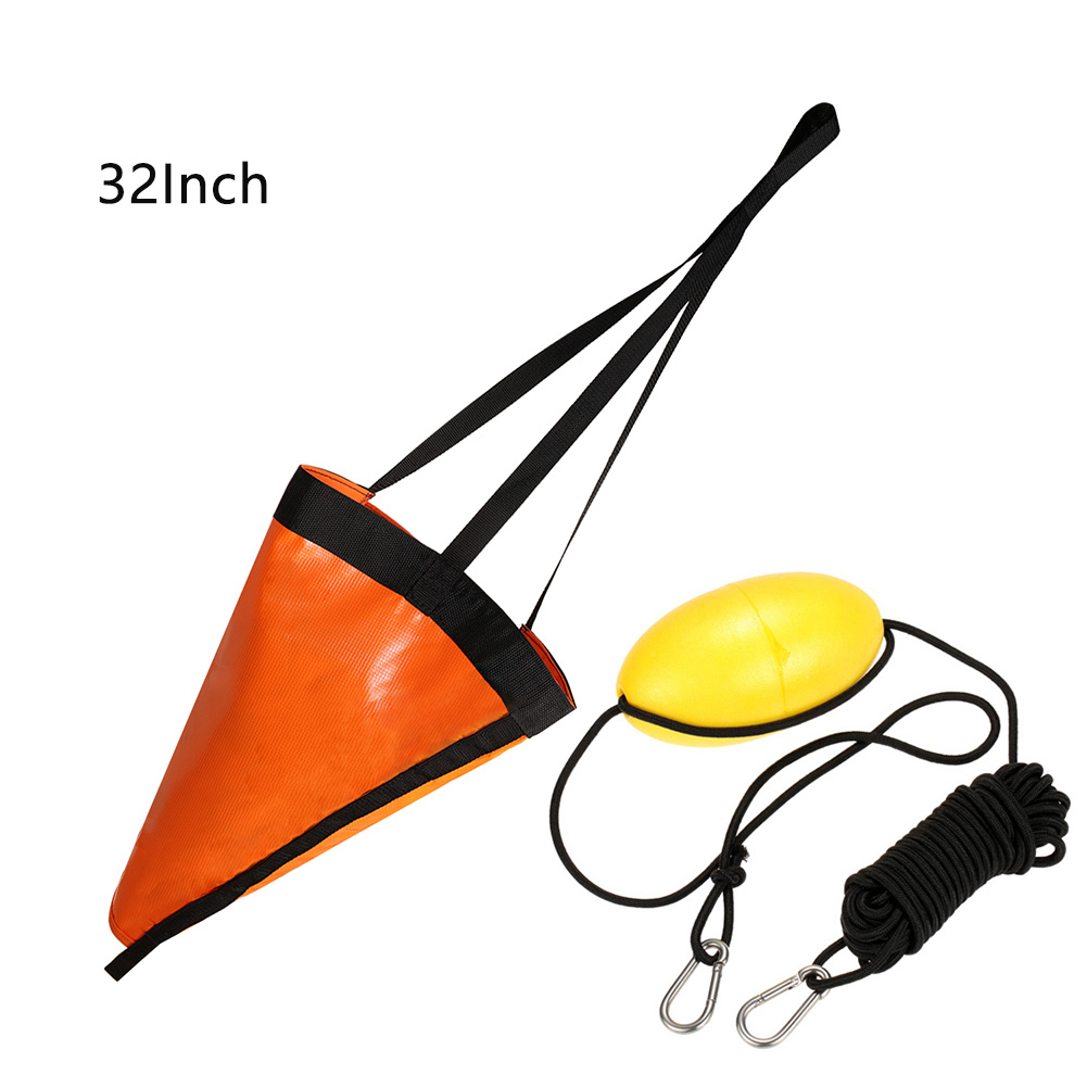 Yacht Drogue Kayak Tow Rope Drift Sock Portable Throw Line Sea Anchor Set Fishing Tackle Canoe PVC Water Sports Trolling Tool