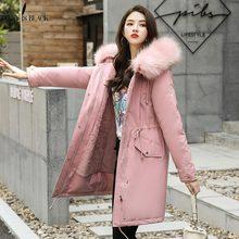 PinkyIsBlack 2019 nueva llegada chaqueta de invierno a la moda para mujer abrigo largo de invierno para mujer