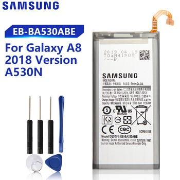 Original Samsung Replacement Battery EB-BA530ABE EB-BA530ABA For Galaxy A8 2018 Version SM-A530N A530N Genuine Battery 3000mAh original replacement samsung battery for galaxy 2016 version j5109 j5108 j5 sm j510 genuine eb bj510cbe eb bj510cbc 3100mah