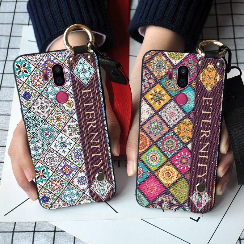 Wrist Strap Phone Case For LG Magna G4C G4 G5 G6 G7 Thinq Luxury Neck Case For LG V20 V30 Back Cover
