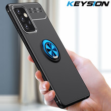 KEYSION-funda a prueba de golpes para Samsung A32, A52, A72, 5G, silicona suave, soporte de anillo magnético, funda trasera para teléfono Galaxy A72, A52, A32, 5G