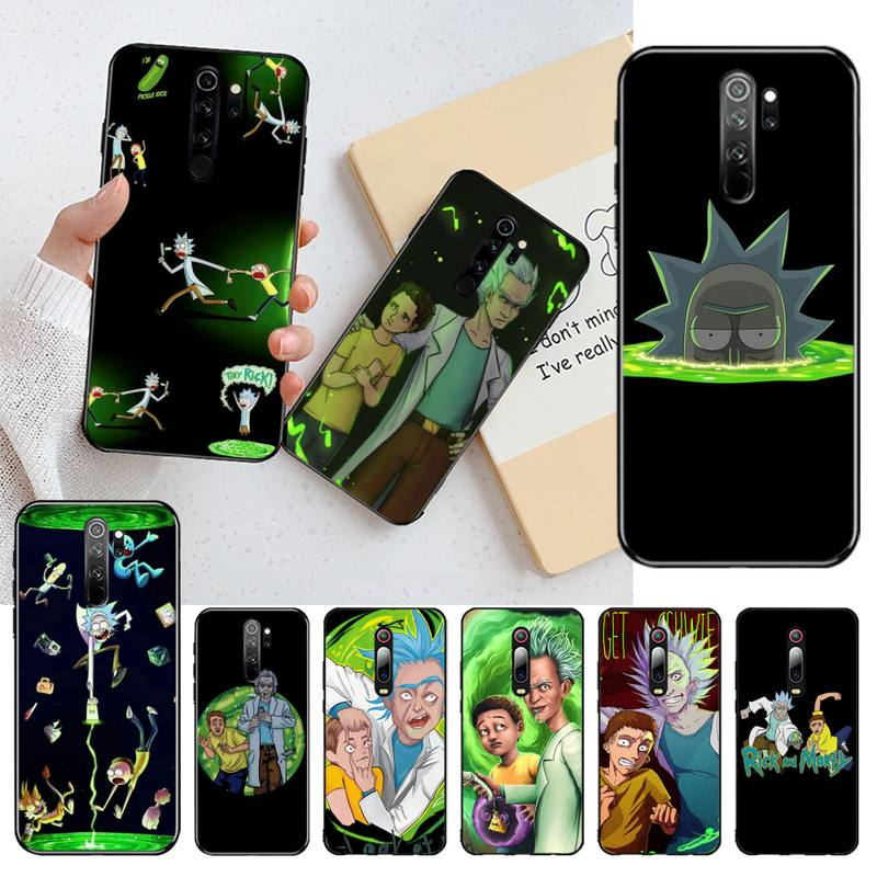 Adult Rick And Morty Black Soft Shell Phone Case Capa For Redmi Note 8 8A 8T 7 6 6A 5 5A 4 4X 4A Go Pro