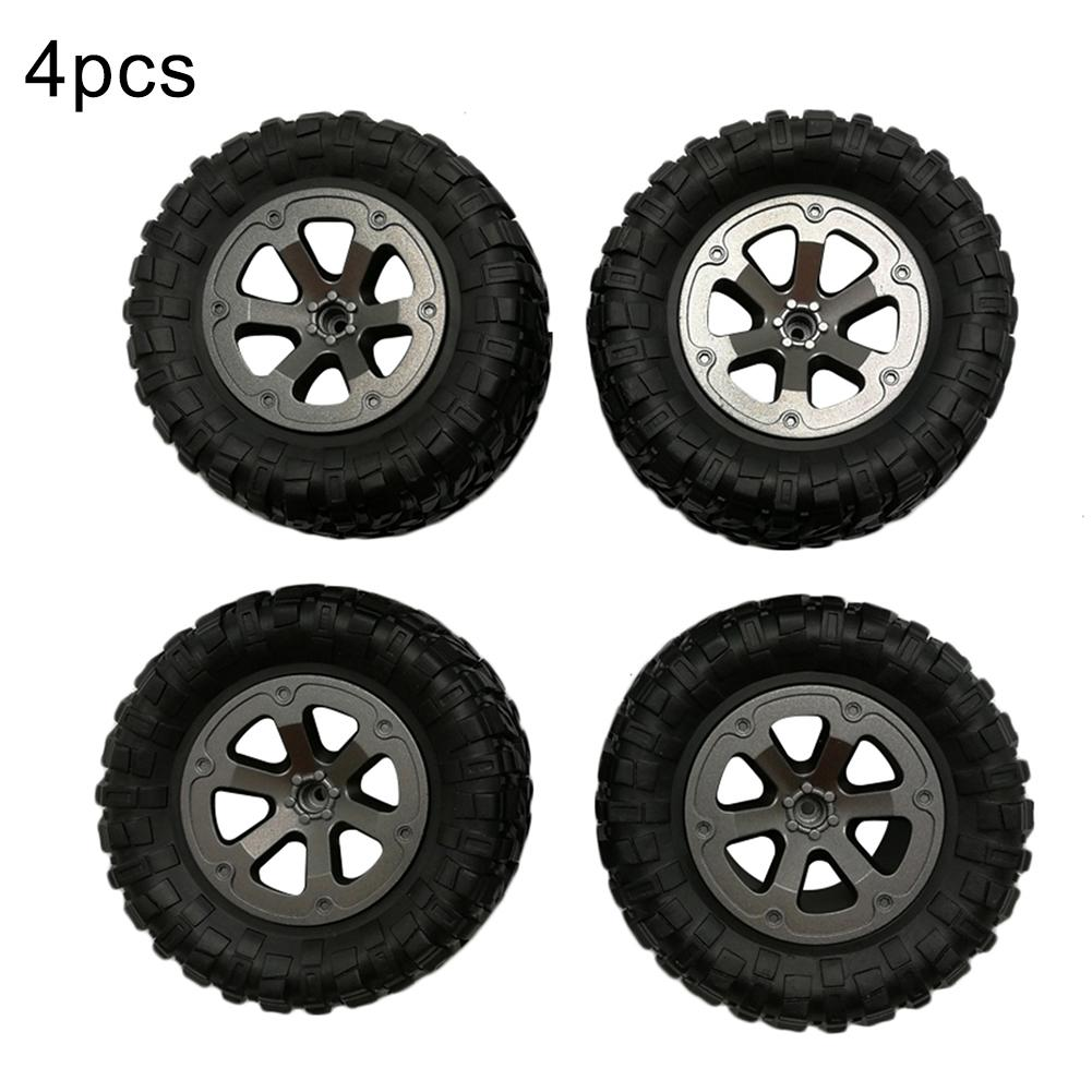 4Pcs 1/16 Scale RC Car Rubber Wheel Rim Tire Tyre Part for WPL B-14 JJRC <font><b>FY001</b></font> Compact and convenient to carry image