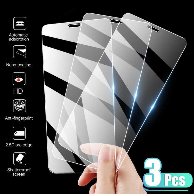 3 قطعة غطاء كامل الزجاج المقسى على آيفون 7 8 6 6s زائد X حامي الشاشة على آيفون X XR XS ماكس SE 5 5s 11 12 برو الزجاج