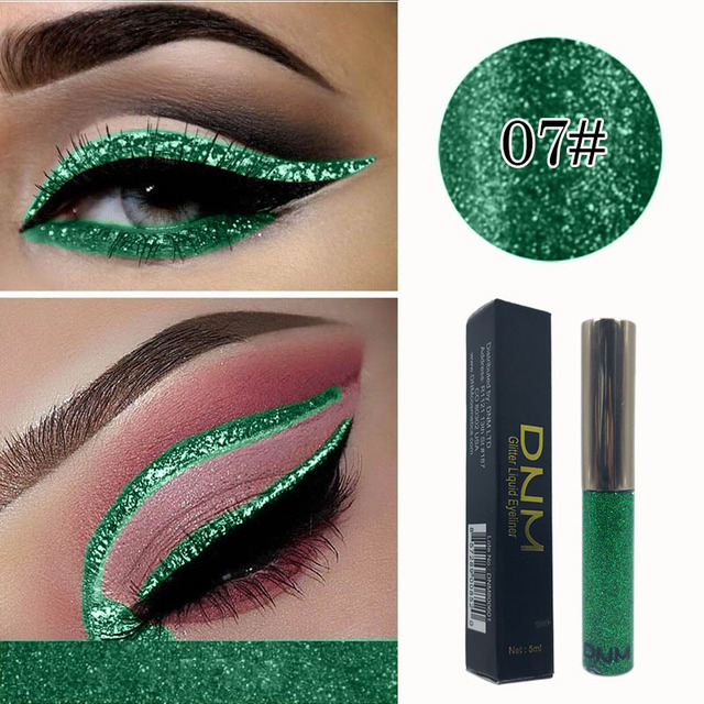 Colorful Makeup Sequins Eyeliner Shimmer Diamond Liquid Eyeliner Waterproof Long-lasting Glitter Eye Liner Pencil TSLM1 1