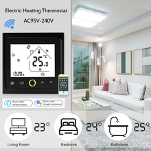 Smart Electric Floor Heating Wifi Thermostat Central Air Conditioner Temperature Controller Voice Control NTC Sensor