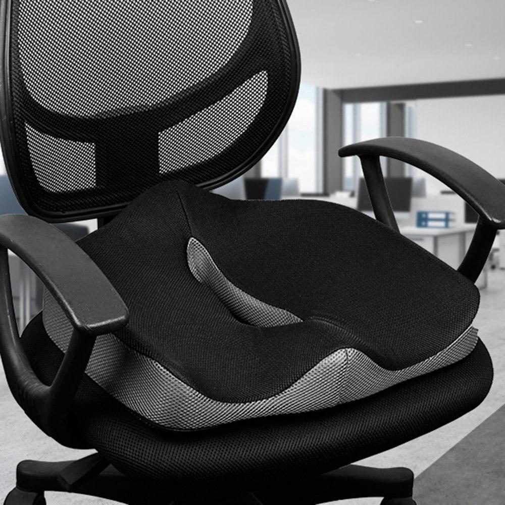 Cóccix ortopédico confortável memória espuma cadeira assento de carro almofada para parte inferior traseira cóccix hemorróidas médicas almofada almofadas