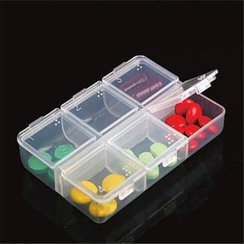 1PC nowy 6 dni Tablet plastikowe opakowanie na leki uchwyt skrzynki apteczka przechowywania organizator pojemnik tanie i dobre opinie Plastic GQQ867 Modern 1 pc