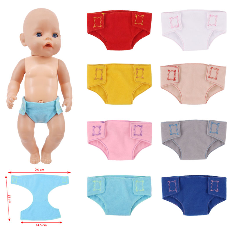 Doll Clothes 15 Solid Colors Panties&Underwears For 18 Inch American Doll&43 Cm Born Doll For Christmas Generation Baby Girl`s