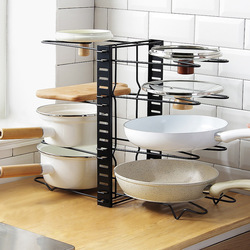 5-warstwa organizer do kuchni stojak regulowany szafa metalowa spiżarnia Pan i pokrywka garnka organizer stojak uchwyt do pieczenia stojak na talerze stojak