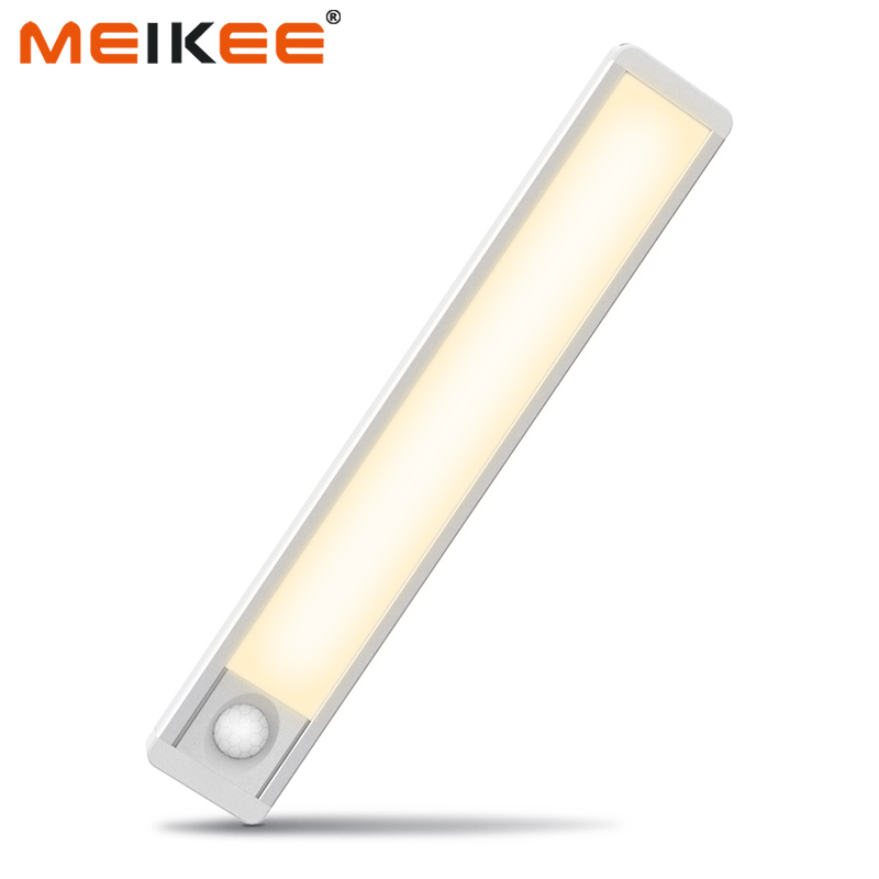 24cm Ultra-thin PIR Motion Sensor LED Cabinet Night Light USB Rechargeable LED Under Cabinet Night Lamp For Wardrobe Cupboard