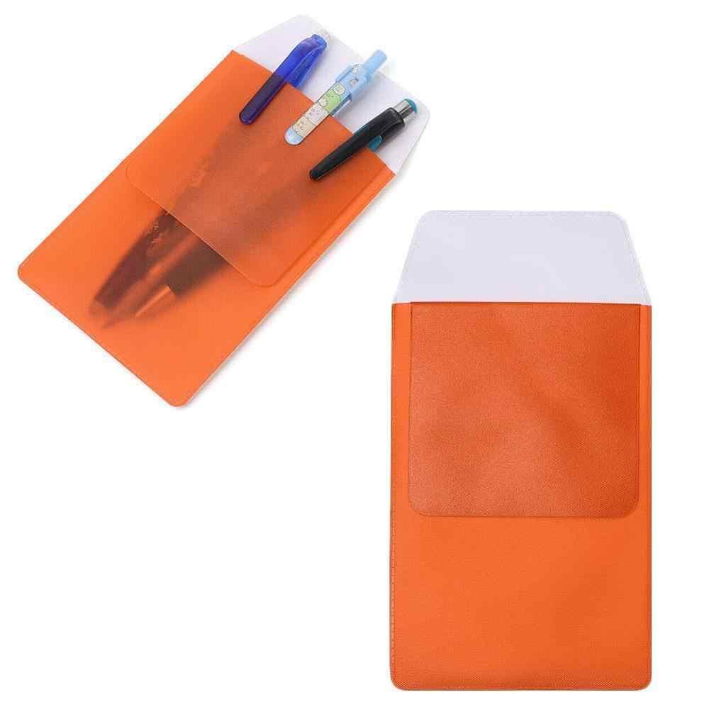 1 pces colorido pvc pocket protector à prova de vazamento caneta bolsa médicos enfermeiros saco escritório suprimentos do hospital