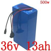 Bloco bonde da bateria 36v 10ah 12.5ah 15ah do trotinette de ebike com carregador 2a bateria elétrica 36v da bicicleta 500 w bateria de lítio 36v 13ah
