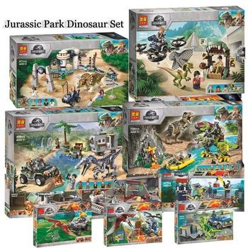 цена на Jurassic World Dinosaur Set 10928 10927 10926 Compatible With Lepining 75930 75932 Model Building Kits Blocks Bricks Toy Gift