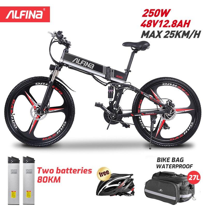 Электрический велосипед ALFINA FX80, электрический велосипед 36 в 250 Ач, Вт, 25 км/ч, складной горный электровелосипед, 26 дюймов