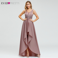 Ever Pretty Dusty Pink Prom Dresses Double V-Neck Sequined A