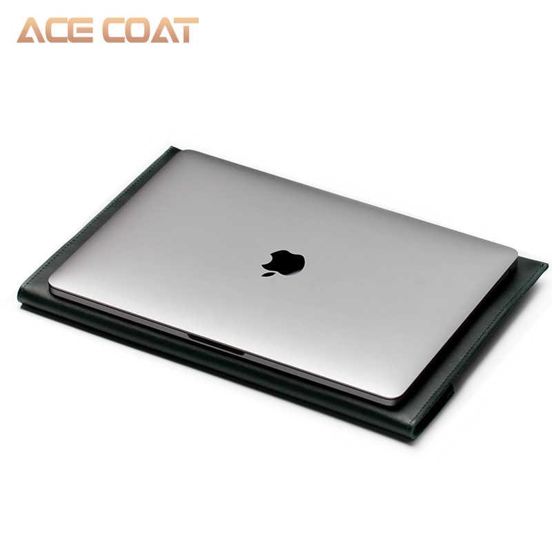 Skórzane torby na ochraniacz na palce dla Apple Macbook Air Pro Retina13 12 15 16 pokrowiec na laptopa do macbook pro 13 case