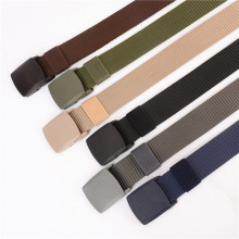Best 2019 Unisex tactical belt Top quality 4 mm thick 3.8 cm wide casual canvas Outdoor Alloy Automatic buckle men Belt