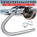 Mangueira de aço inoxidável do respiradouro do gás diesel da tubulação da exaustão do tanque do calefator de ar do estacionamento 120cm