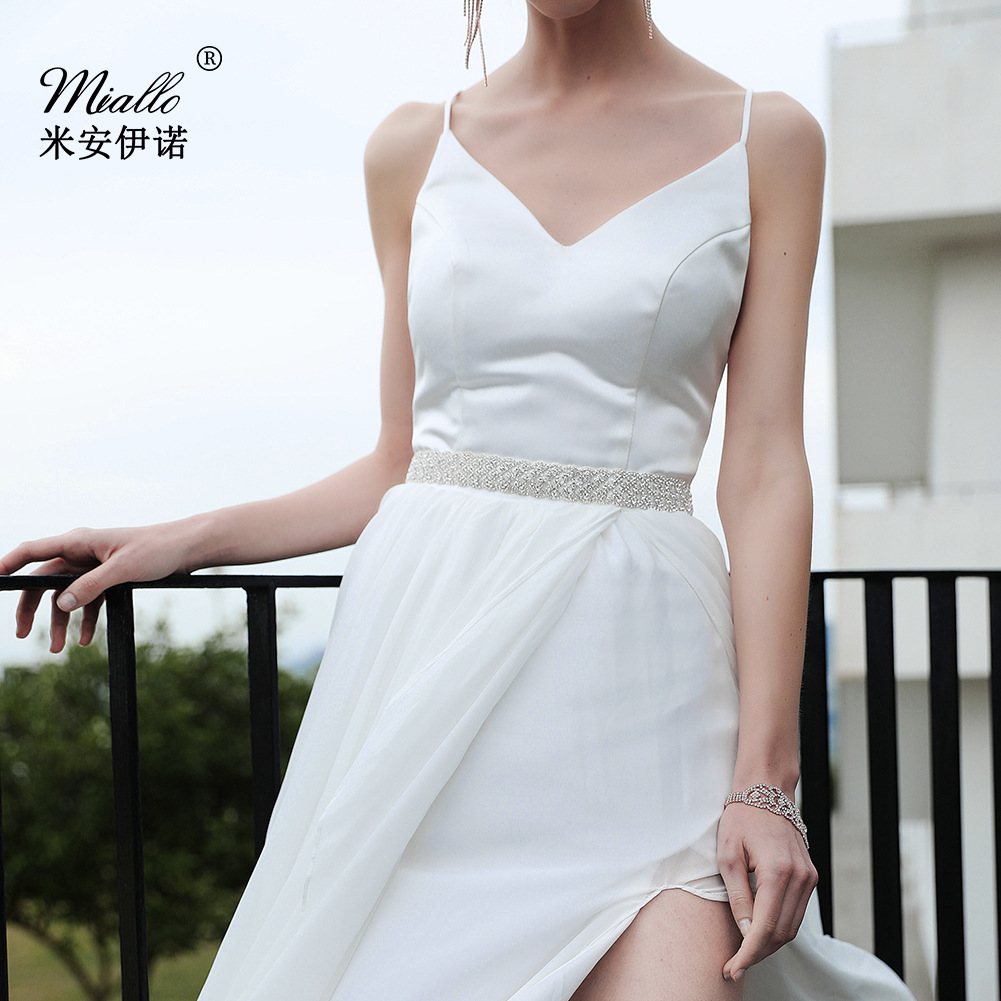 Hot Selling Europe And America New Style Top Grade Handmade Diamond Set Girdle Wedding Dress Accessories Bride Belt