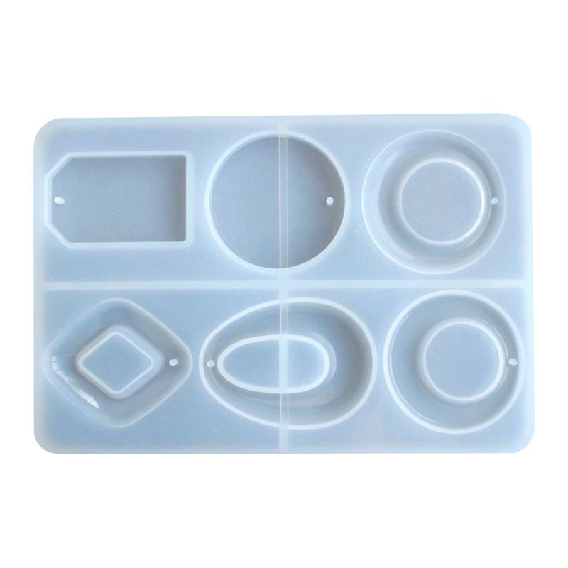 Silicone Mold DIY Pendant Crafts Making Jewelry Key Ring Epoxy Mould