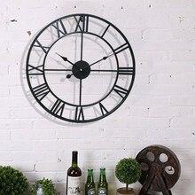 Ретро настенные часы в европейском стиле, современные настенные часы для гостиной, минималистичные настенные часы для спальни, домашний декор, бесшумные креативные часы с римскими цифрами