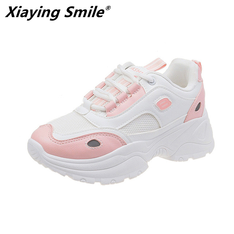 Xiaying Smile New arrival Spring Autumn mesh <font><b>material</b></font> women sport sneakers women running <font><b>shoes</b></font> outdoor designer sport <font><b>shoes</b></font> image