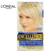 LOreal Paris Excellence Creme Blonde Supreme # 01 High-Lift Extra Light Ash Blonde - Cooler for Unisex