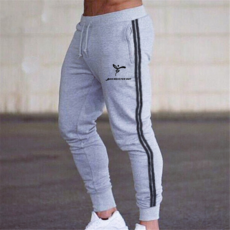 2020 New Casual Side Stripes Pants Men Bottom Streewear Slim Fit Jogger Pants Male Skinny Sweatpants Men Trousers Track Pants