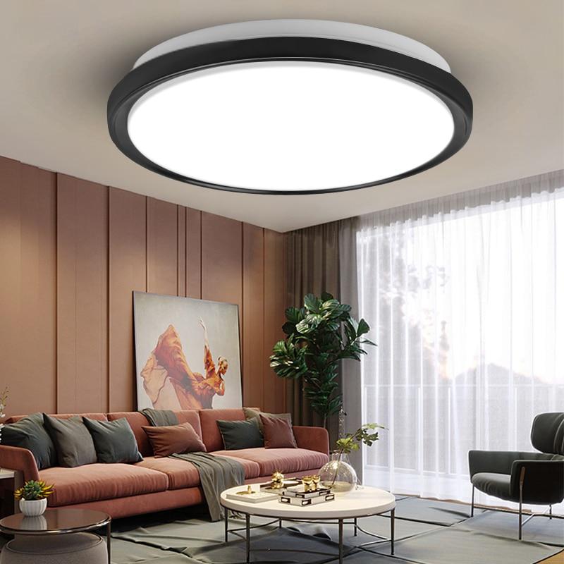Ceiling Lights Led Ceiling Lamp 220V Leds Light Fixtures Round Panel Lamps 30W 50W 70W For Kitchen Living Room Indoor Lighting