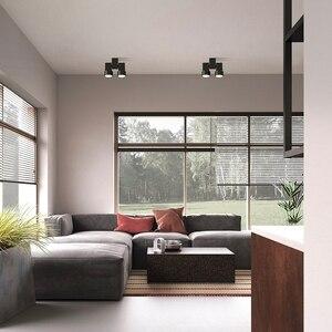 Image 3 - Kapalı led downlight led gu10 180 ayarlanabilir çift yüzey montaj spot beyaz/siyah tavan ışık