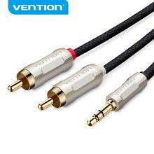 Vention – câble Audio 3.5mm à 2 RCA, Jack 3.5mm, câble de séparation en Nylon tressé pour Home cinéma iphone DVD casque PC