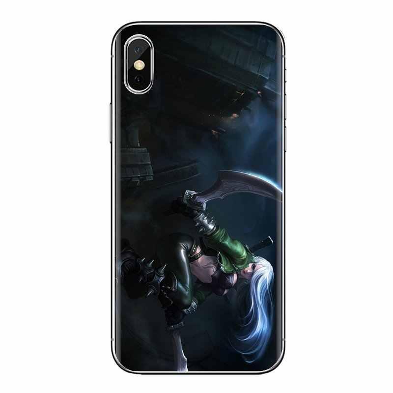 Voor Huawei Mate Honor 4C 5C 5X6X7 7A 7C 8 9 10 8C 8X20 lite Pro Transparante Zachte Gevallen Covers katarina Riven LOL Fan