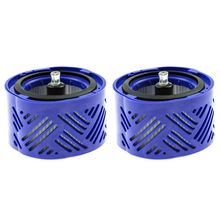 цена на 2 pcs Suitable For Dyson V6 DC59 Vacuum Cleaner, Hepa Filter,Post Motor Filter Assembly Replacement Filters