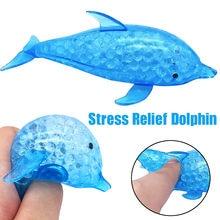 Brinquedo sensorial brinquedo spongy dolphin grânulo bola de estresse brinquedo squeezable alívio do estresse brinquedo 10ml brinquedos de alívio do estresse