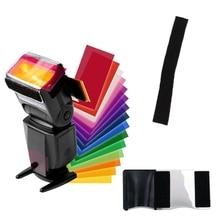 12 Colors Gel Filter Flash Diffuser Soft Box Studio Lighting Filter for Camera