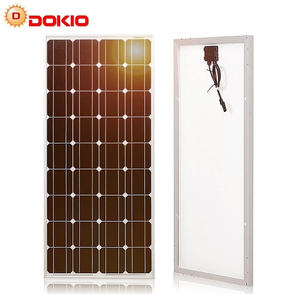 Купить dokio 12в 100 вт жесткая солнечная панель китай 18в монокристаллическая